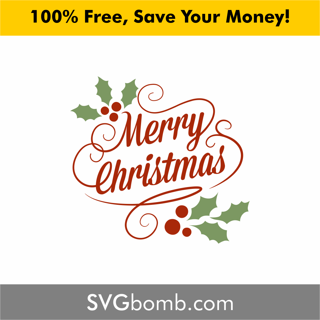 Download Merry Christmas Classic Vintage SVG and Vector | SVGBOMB