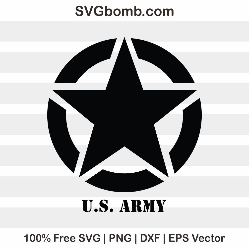 Free Logo SVG: US Army Vector Image | SVGbomb com