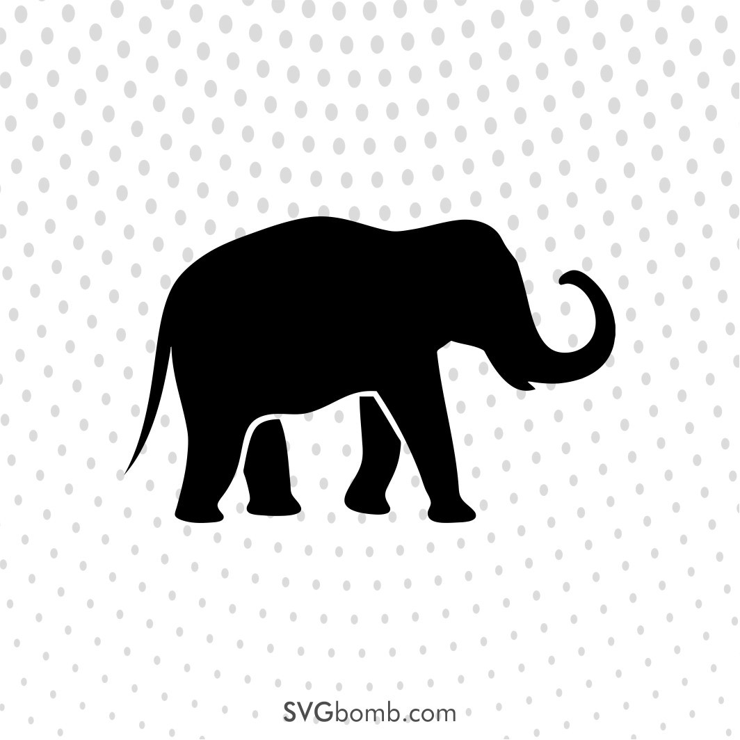 Download Free Elephant SVG Cut File - SVGBOMB