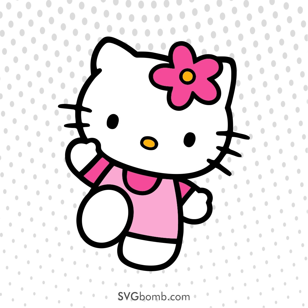 free svg cut file hello kitty vector