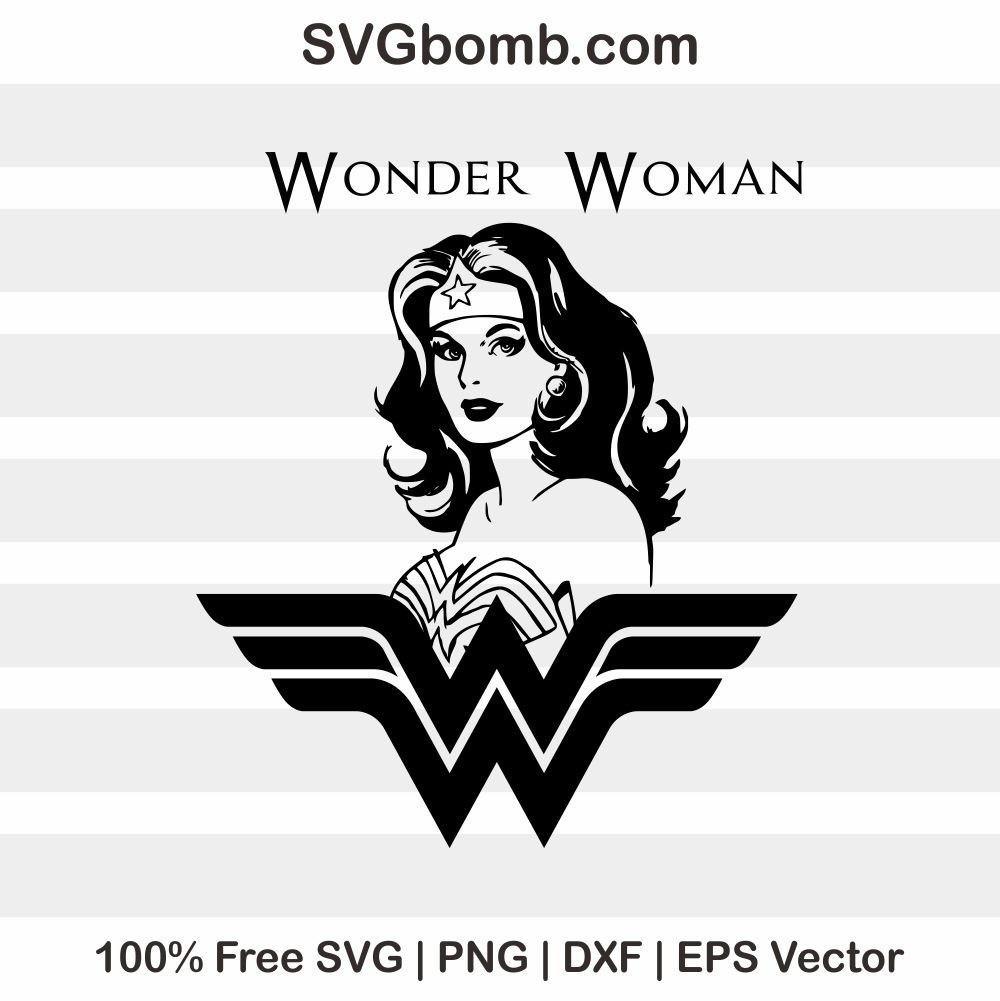 Free svg wonder woman clipart silhouette - Wonder woman logo vector ...