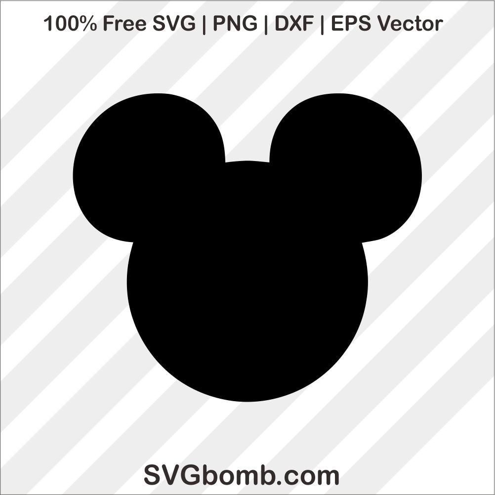 free disney svg: micke mouse head