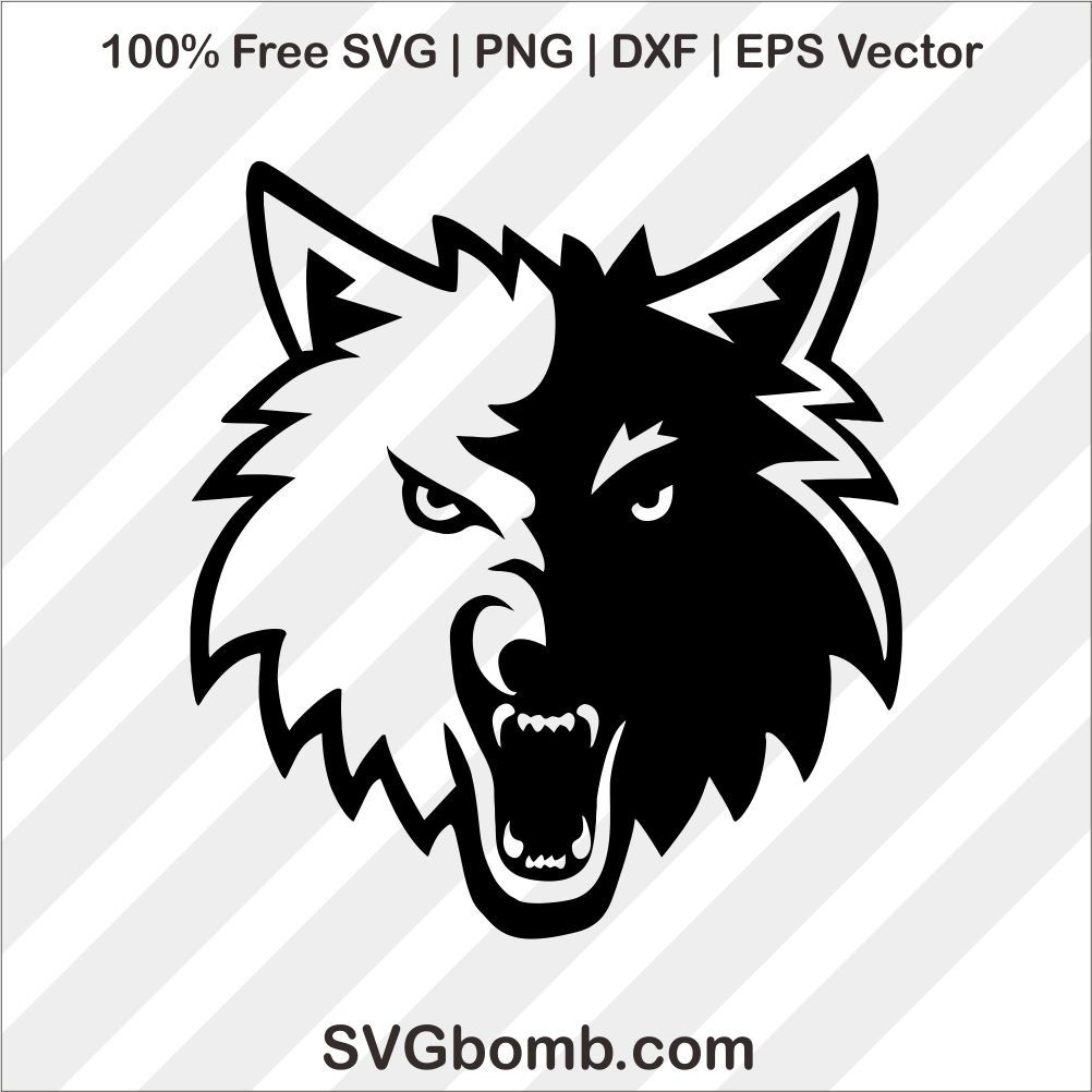Free Minnesota Timberwolves SVG cut files, PNG, DXF and EPS Vector