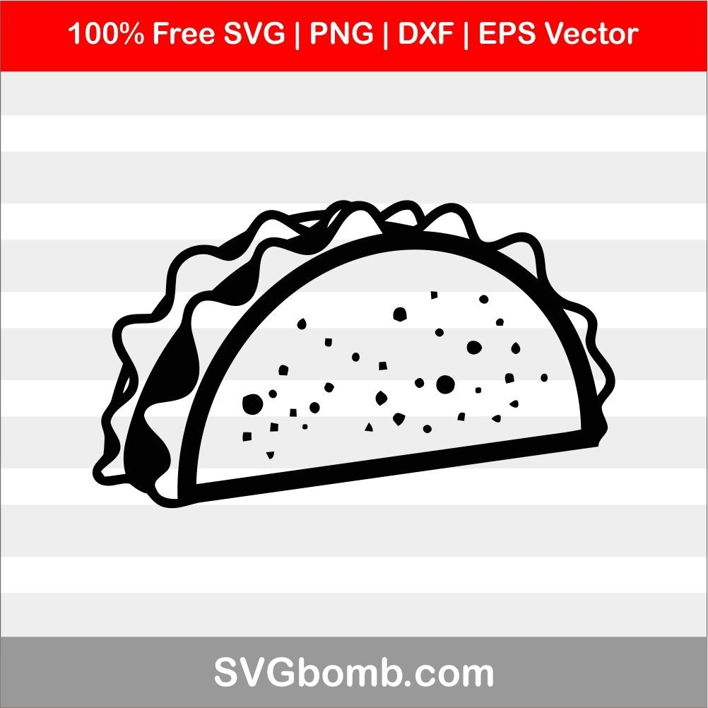 Free SVG Taco SVG Vector Image