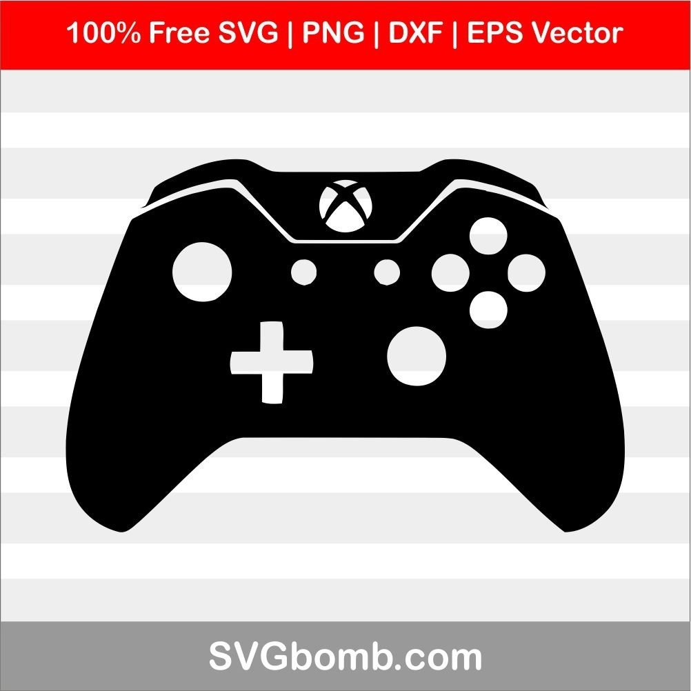 Free Xbox Controller SVG cut files, PNG, DXF and EPS Vector