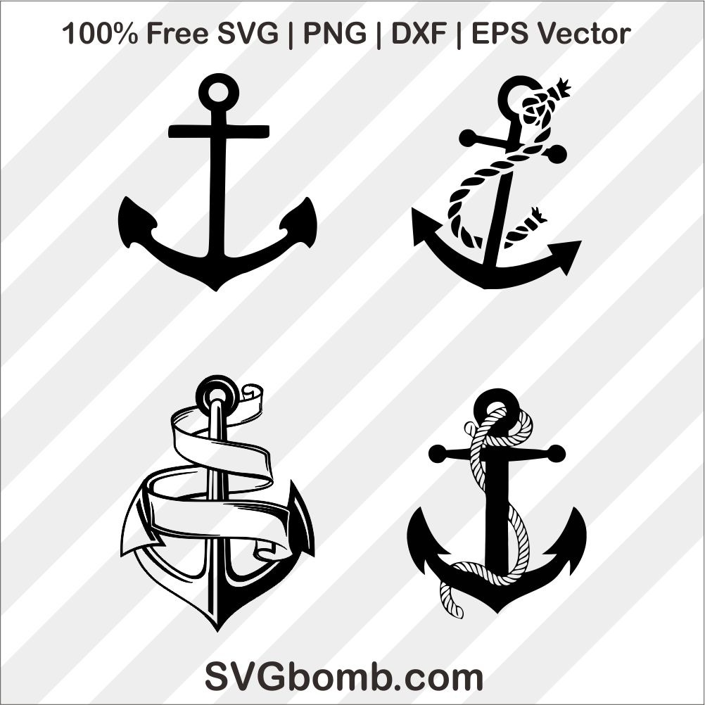 Anchor clip art svg cuttting file