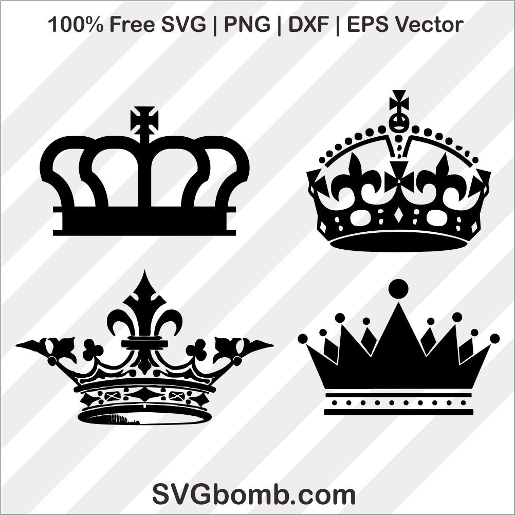 crown svg cutting file king queen