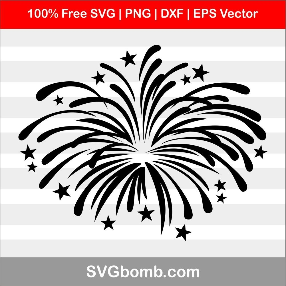 Fireworks SVG cut files, PNG, DXF and EPS Vector for Cricut