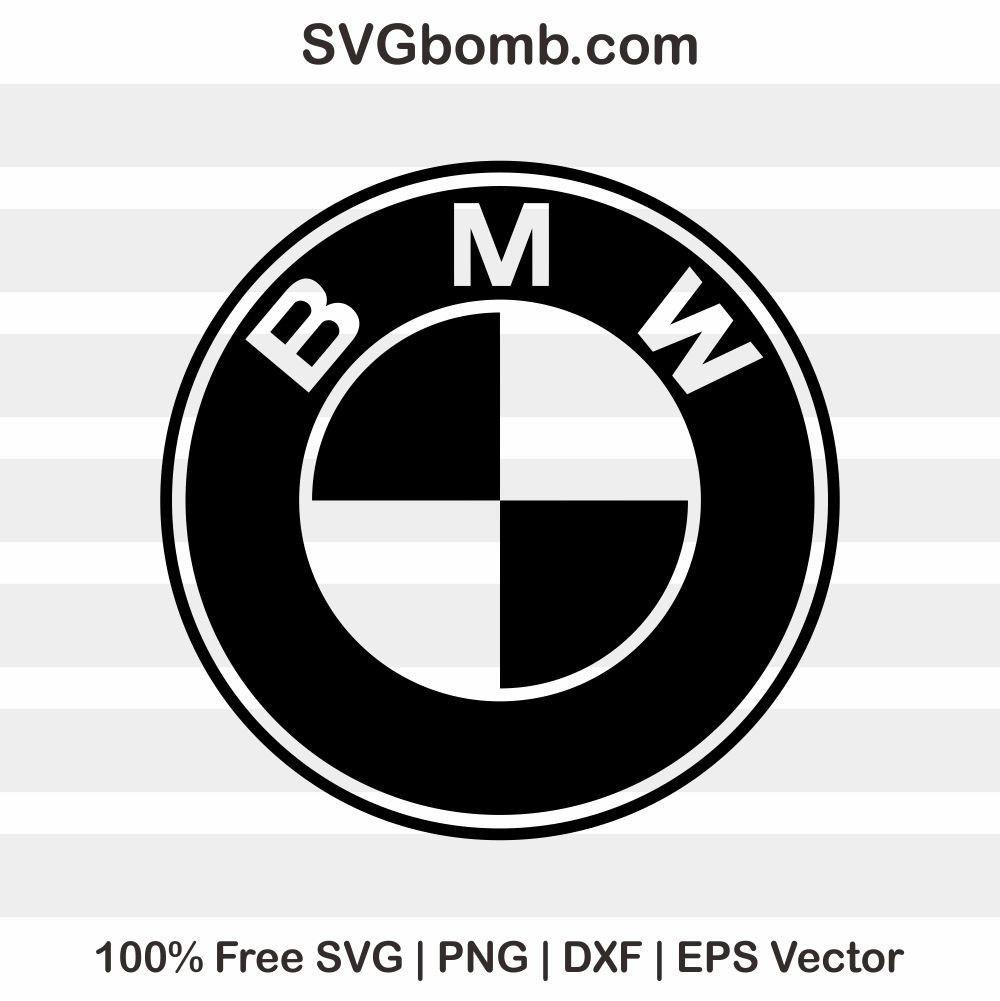 free bmw logo cut file