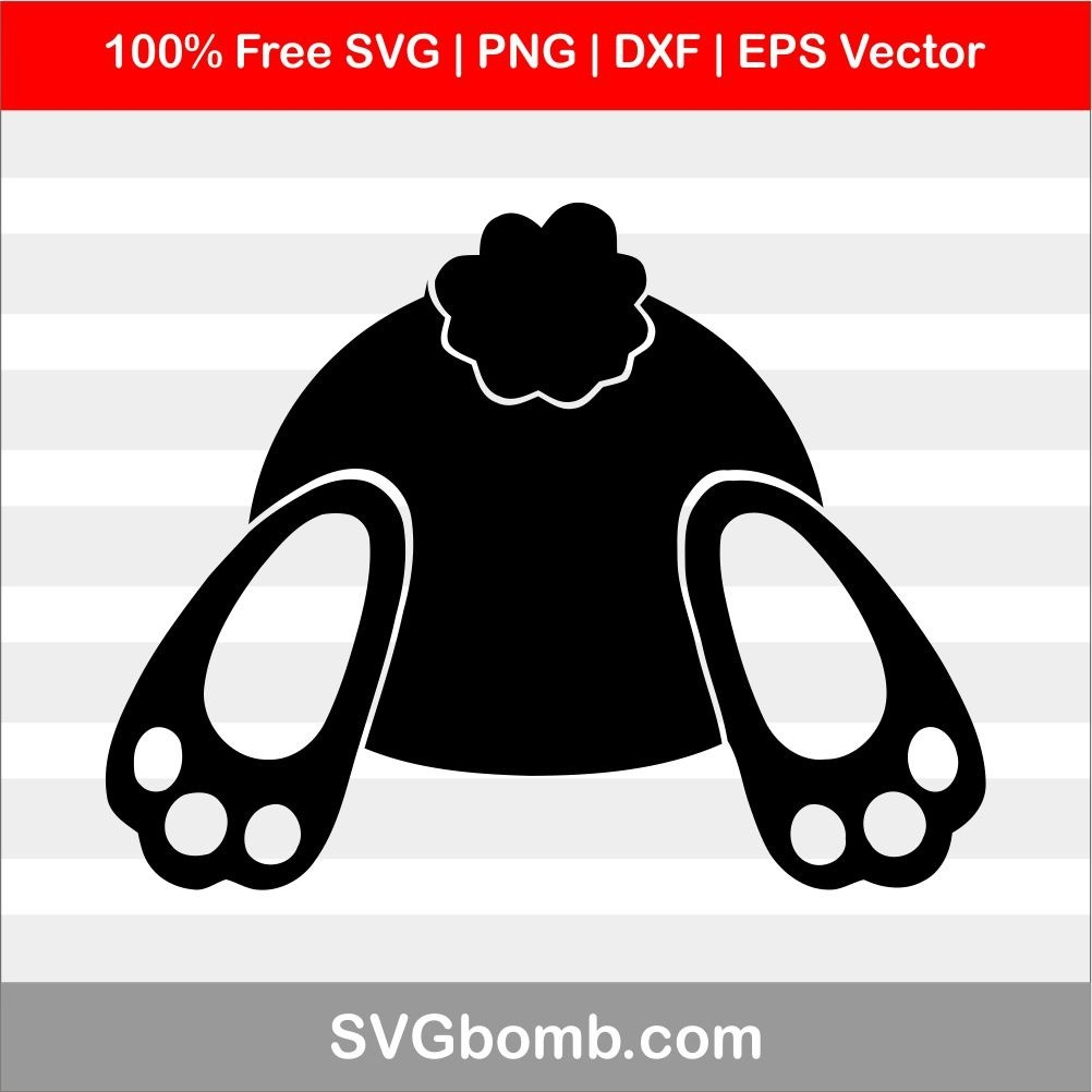 Easter Bunny But SVG DXF Cutting File | SVGbomb com
