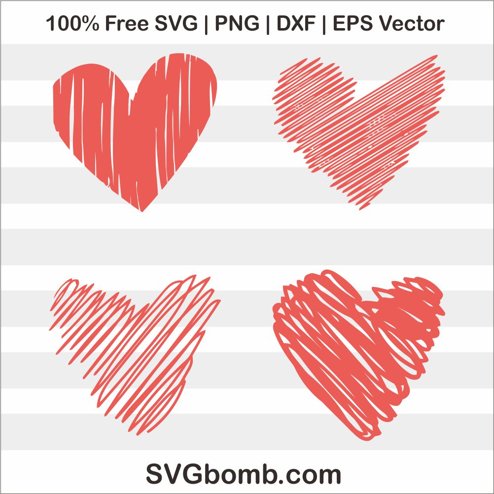 Download Free Heart Love Red SVG DXF Cut File | SVGbomb.com