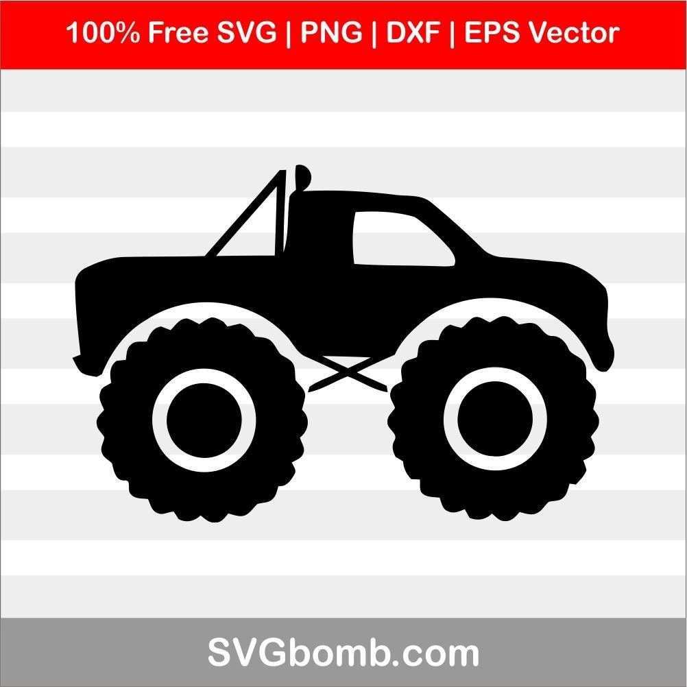 Free Truck SVG cut files, PNG, DXF and EPS Vector download