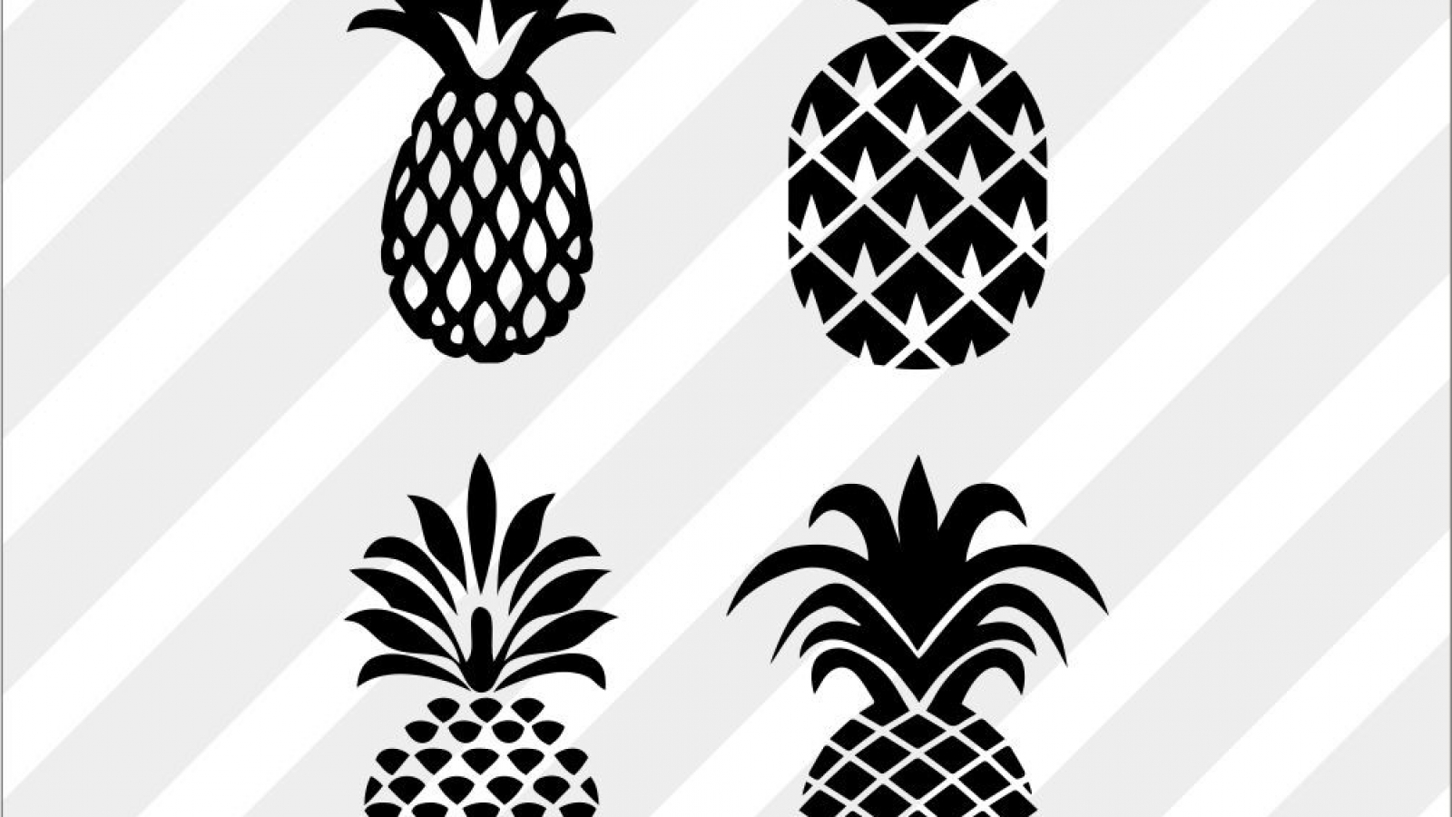 Free Pineapple SVG cut files, PNG, DXF and EPS Vector
