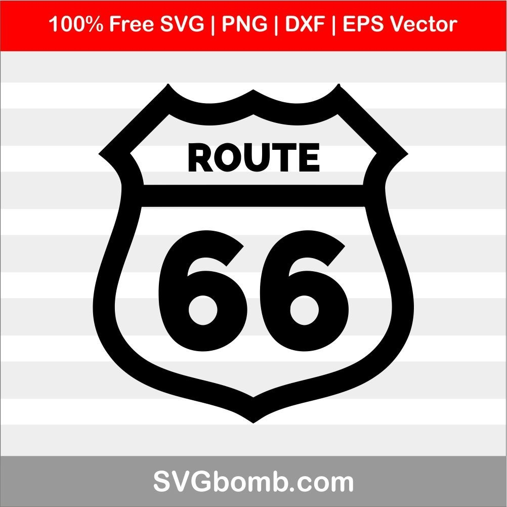 Route 66 Sign SVG Vector Image