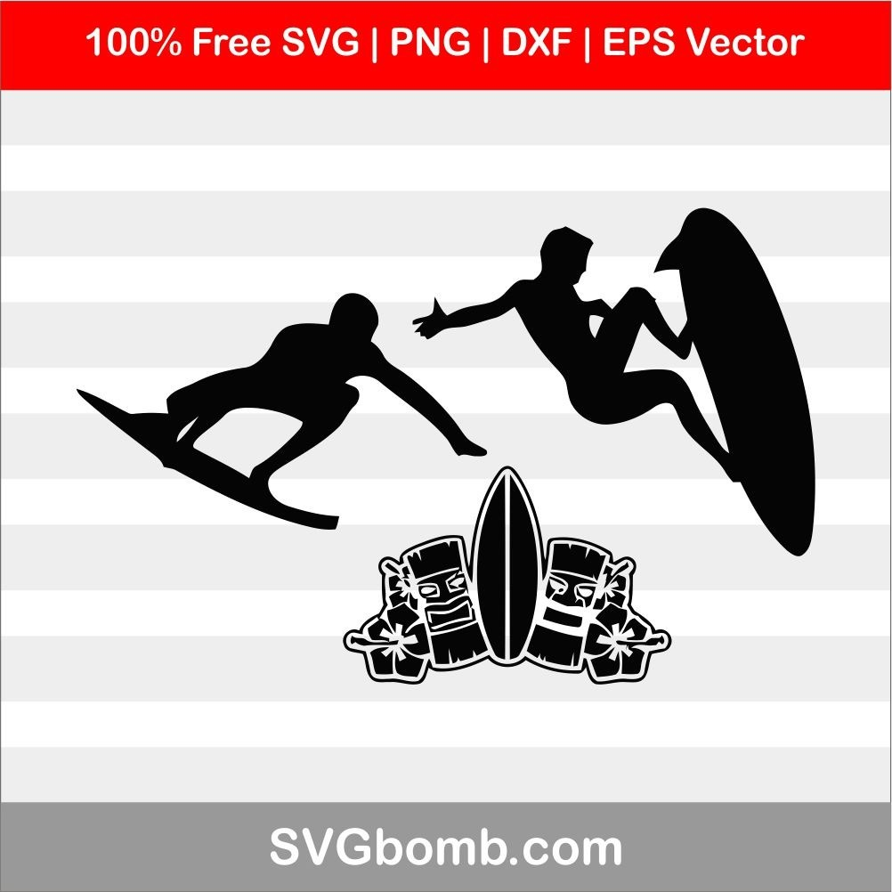 free surfing svg cut file