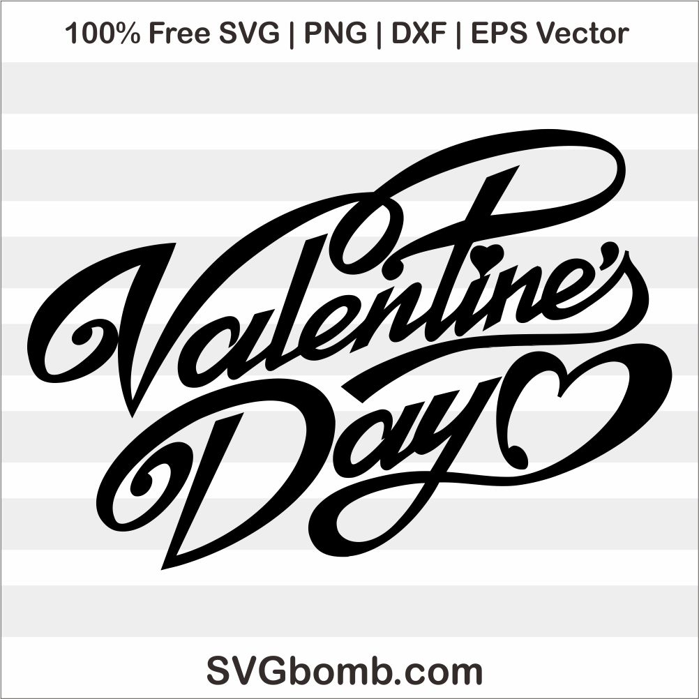 Valentines Day Sign Cut File SVG EPS Vector