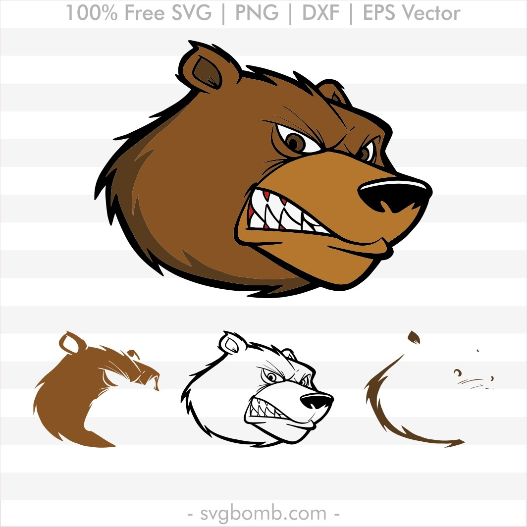 free svg quote svgbomb Adorable Brown Bear vector