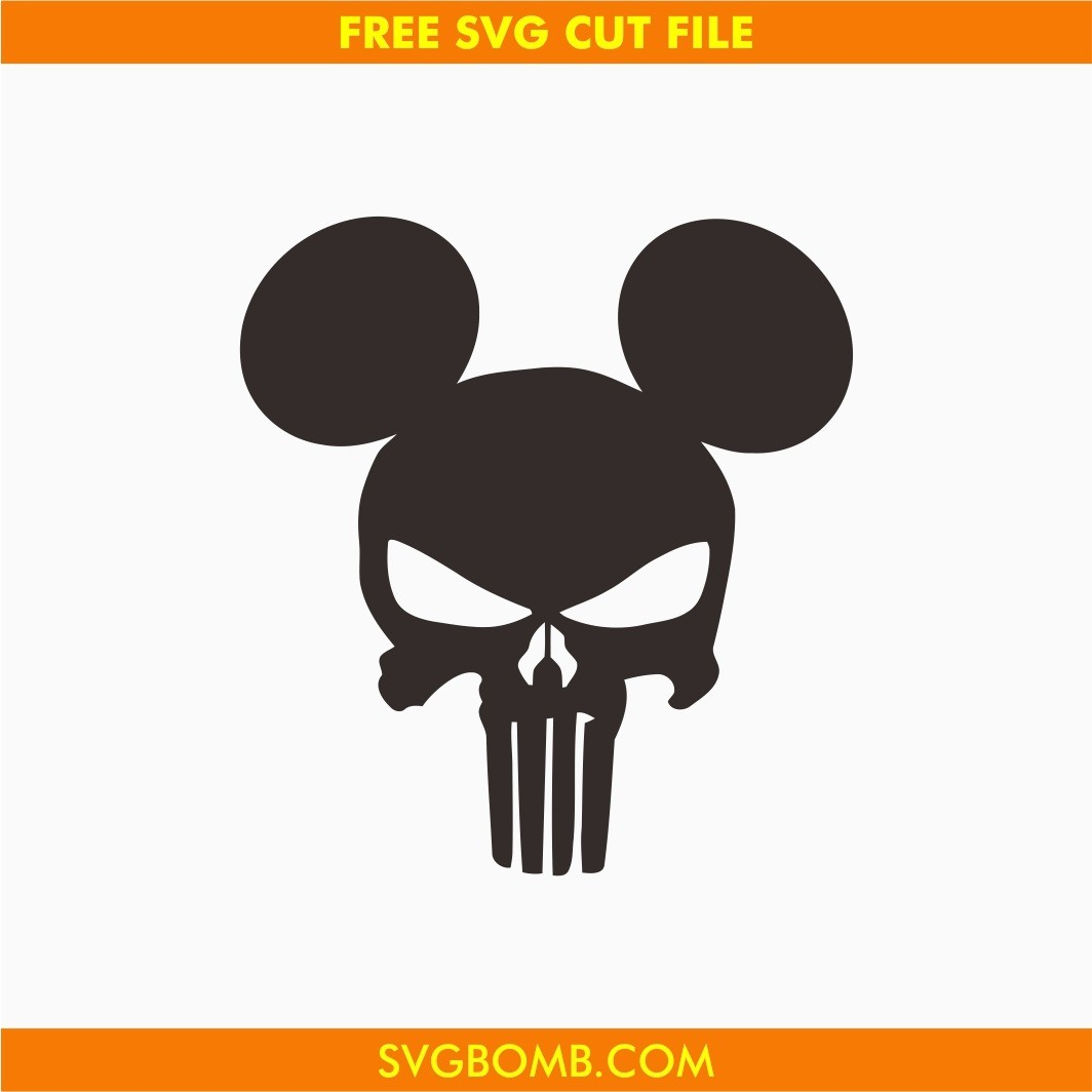 mickey mouse punisher free svg cut file dxf