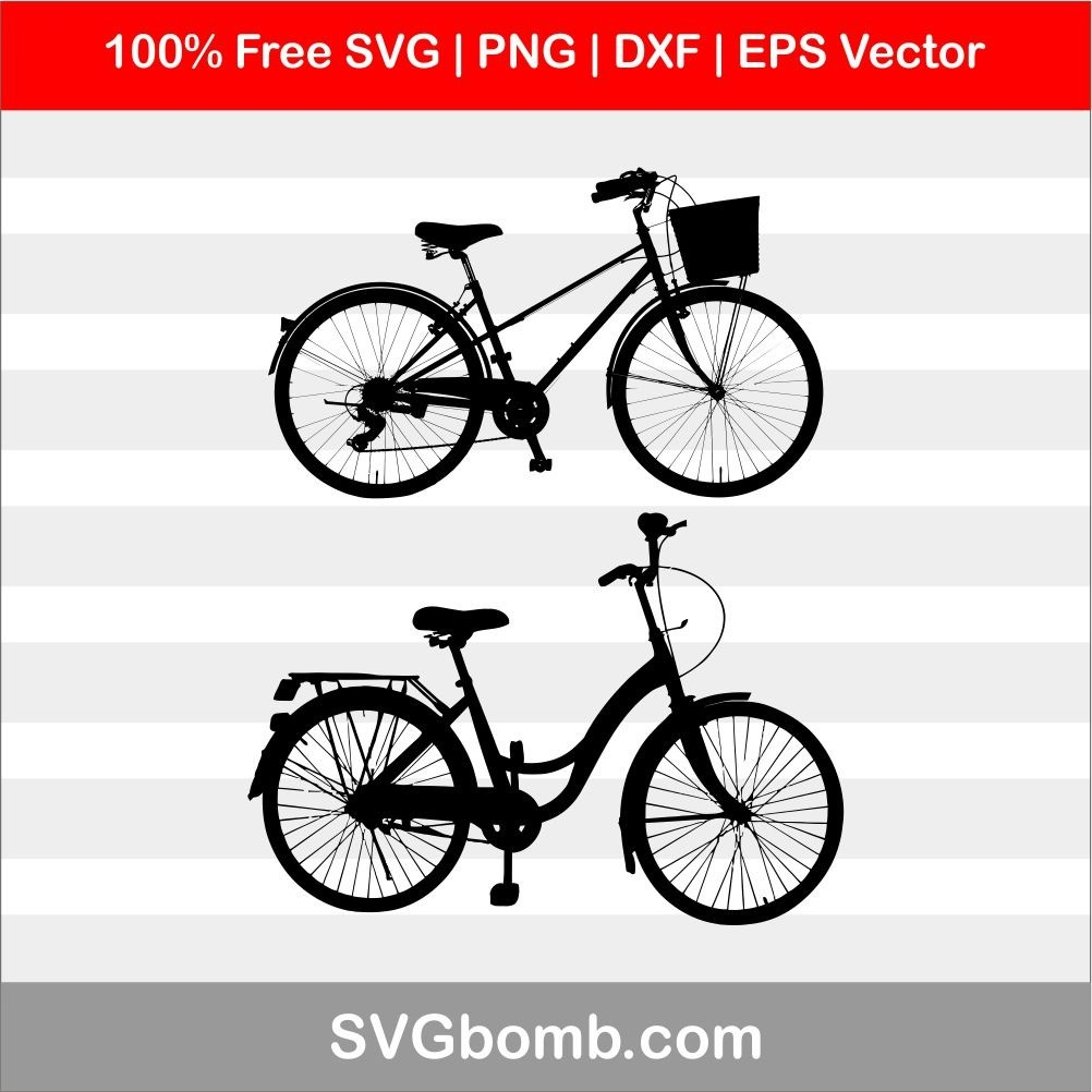 Bicycle silhouette svg cut file