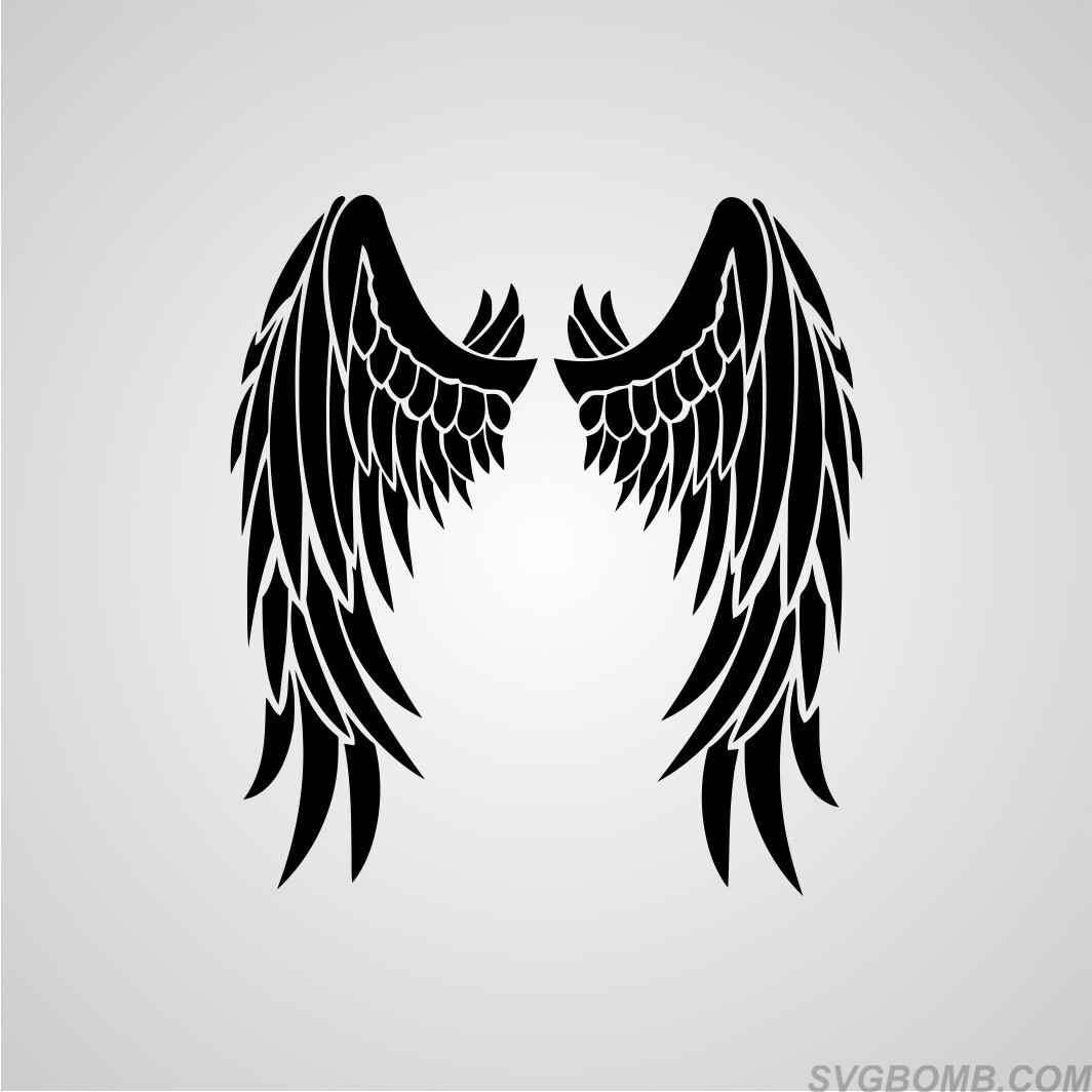 wing wings angel svg cut file