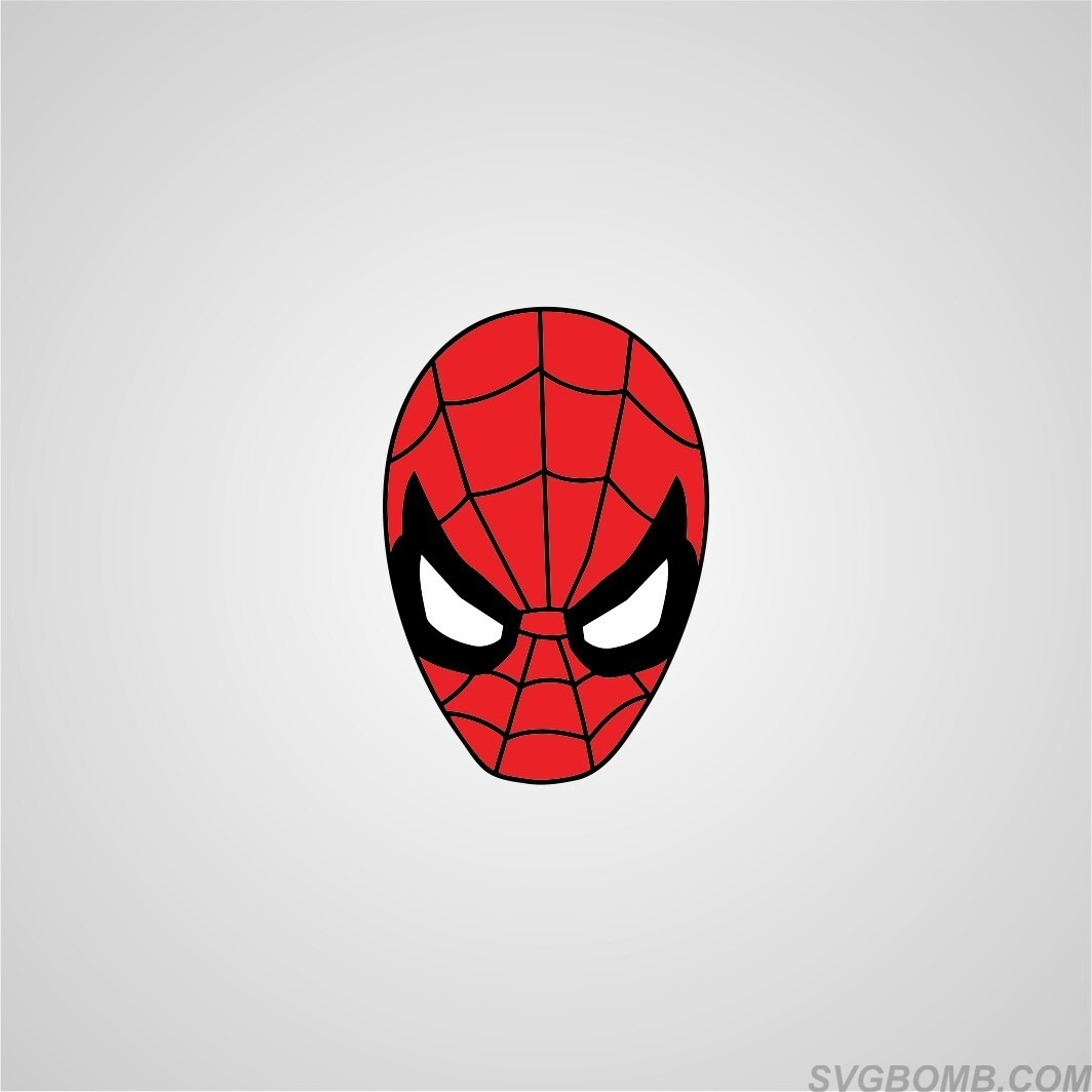 Spiderman head face svg cut file free download