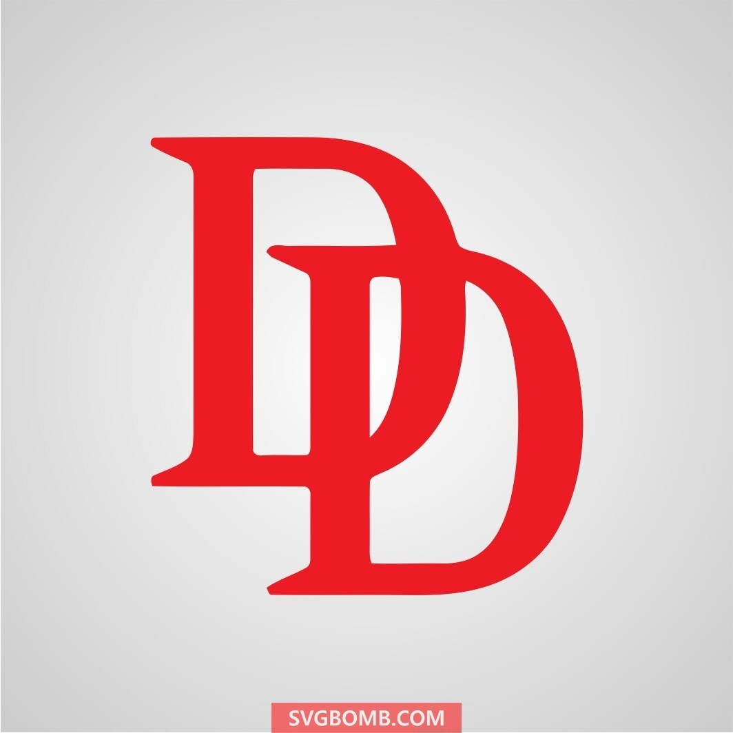 daredevil logo svg cut file