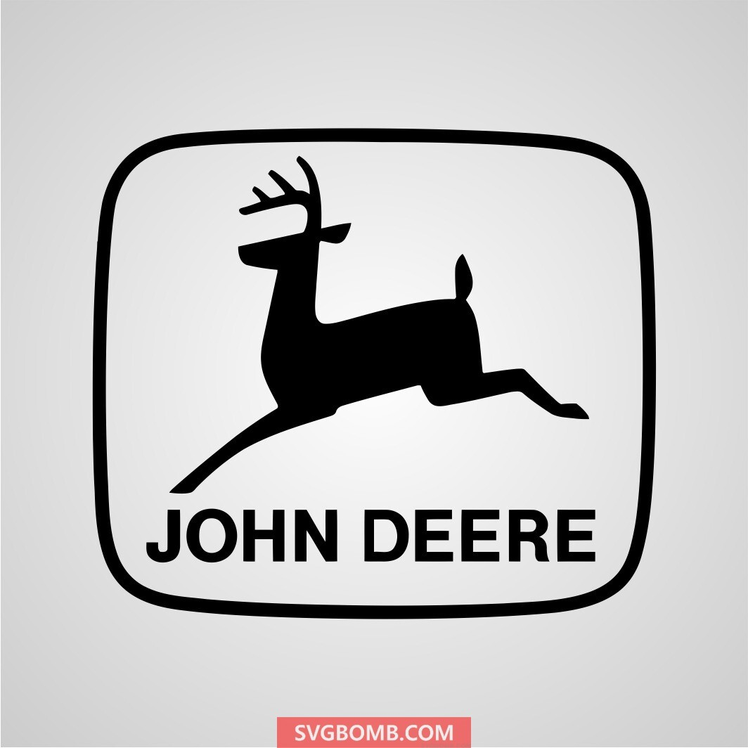 blue john deere logo svg cut file