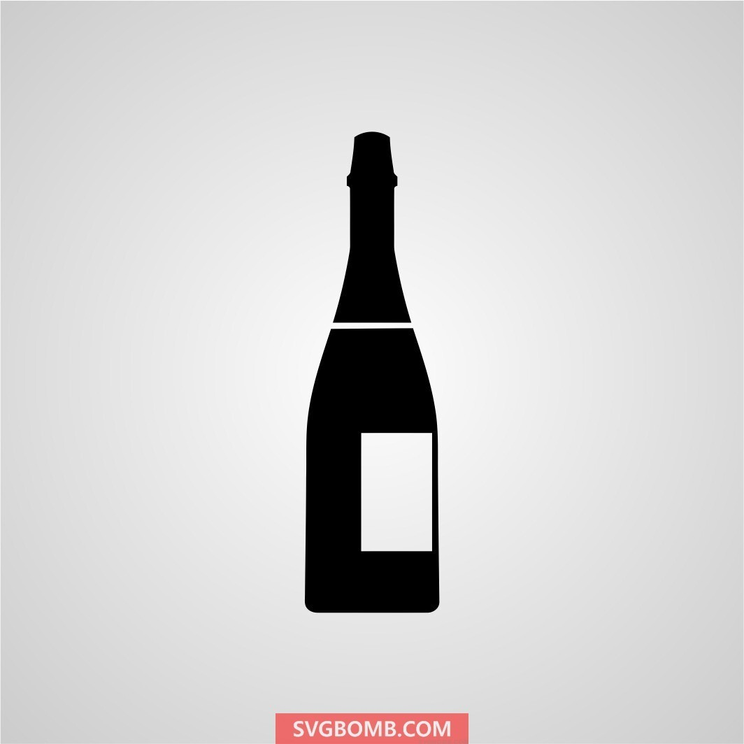 champagne bottle svg cut file