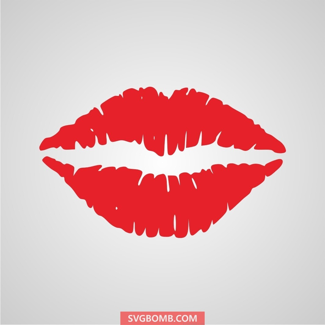free driping lips svg cut file