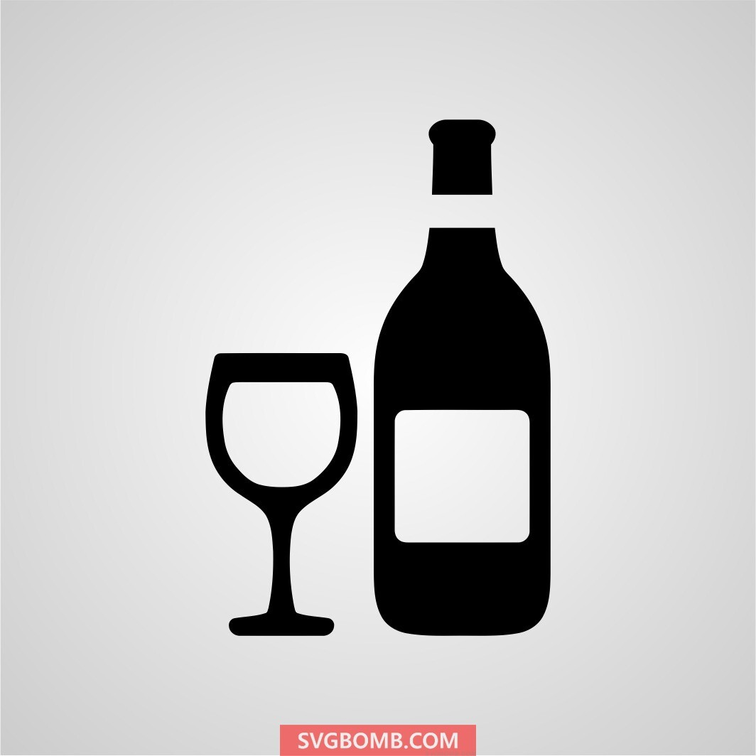 wine bottle svg cut file