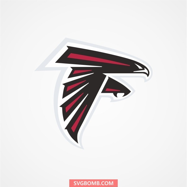 atlanta falcons svg cut file svgbomb