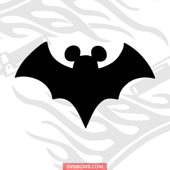 svgbomb.com batman mickey mouse head svg cut file