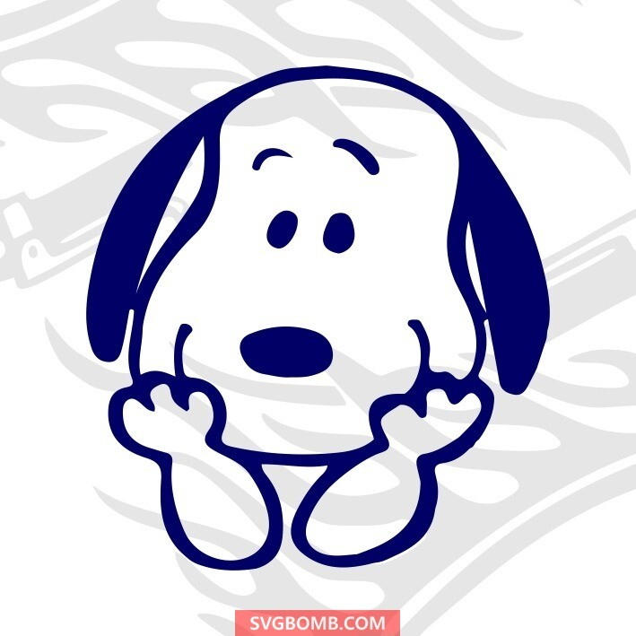 snoopy svg cut file for free svgbomb.com