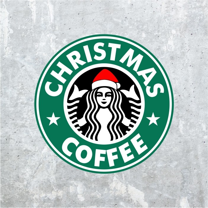 christmas coffee svg cut file
