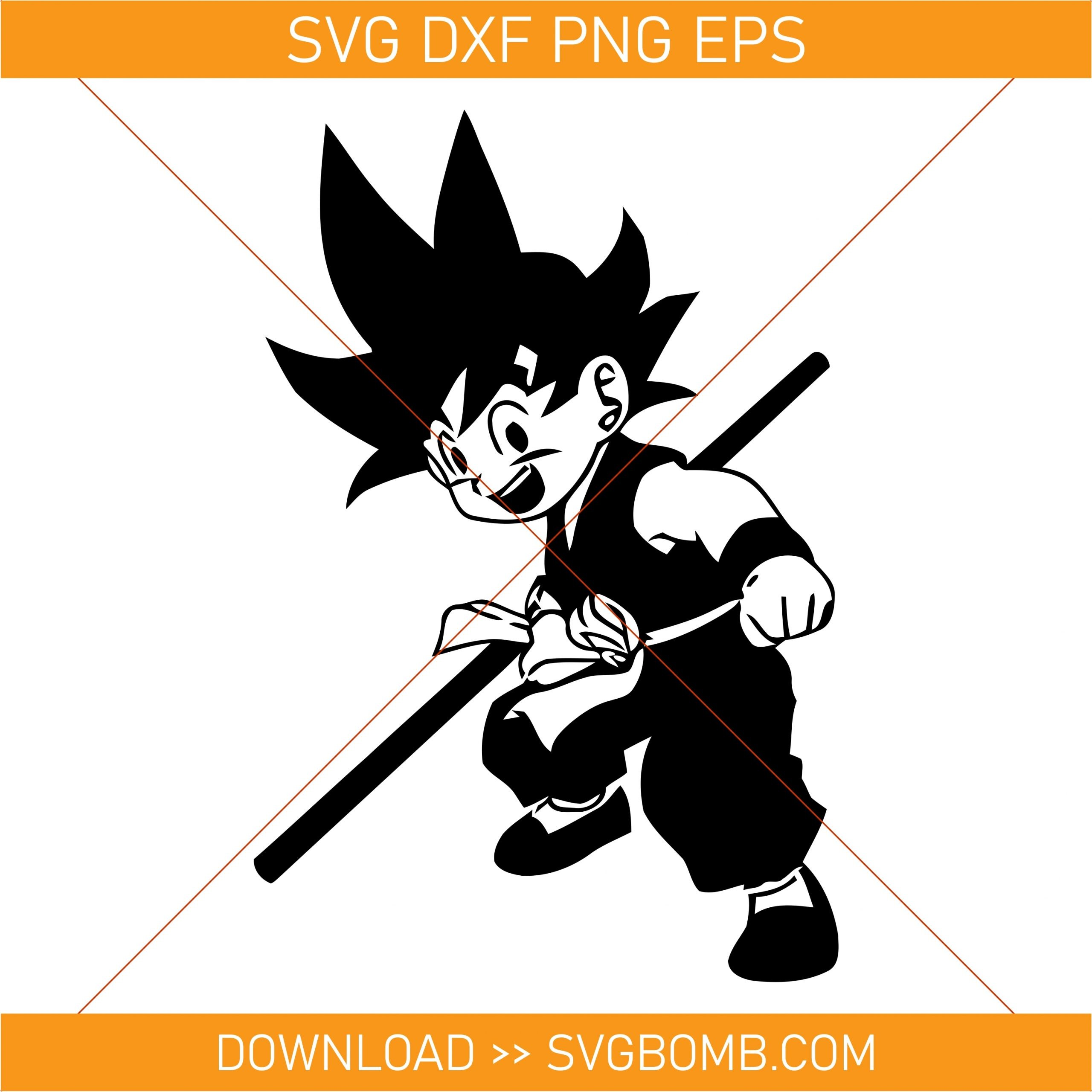 goku svg cut file