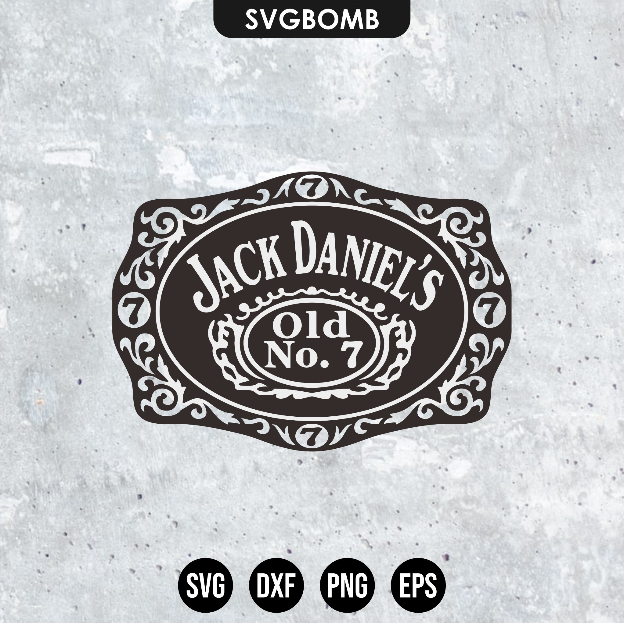 label jack daniels logo svg