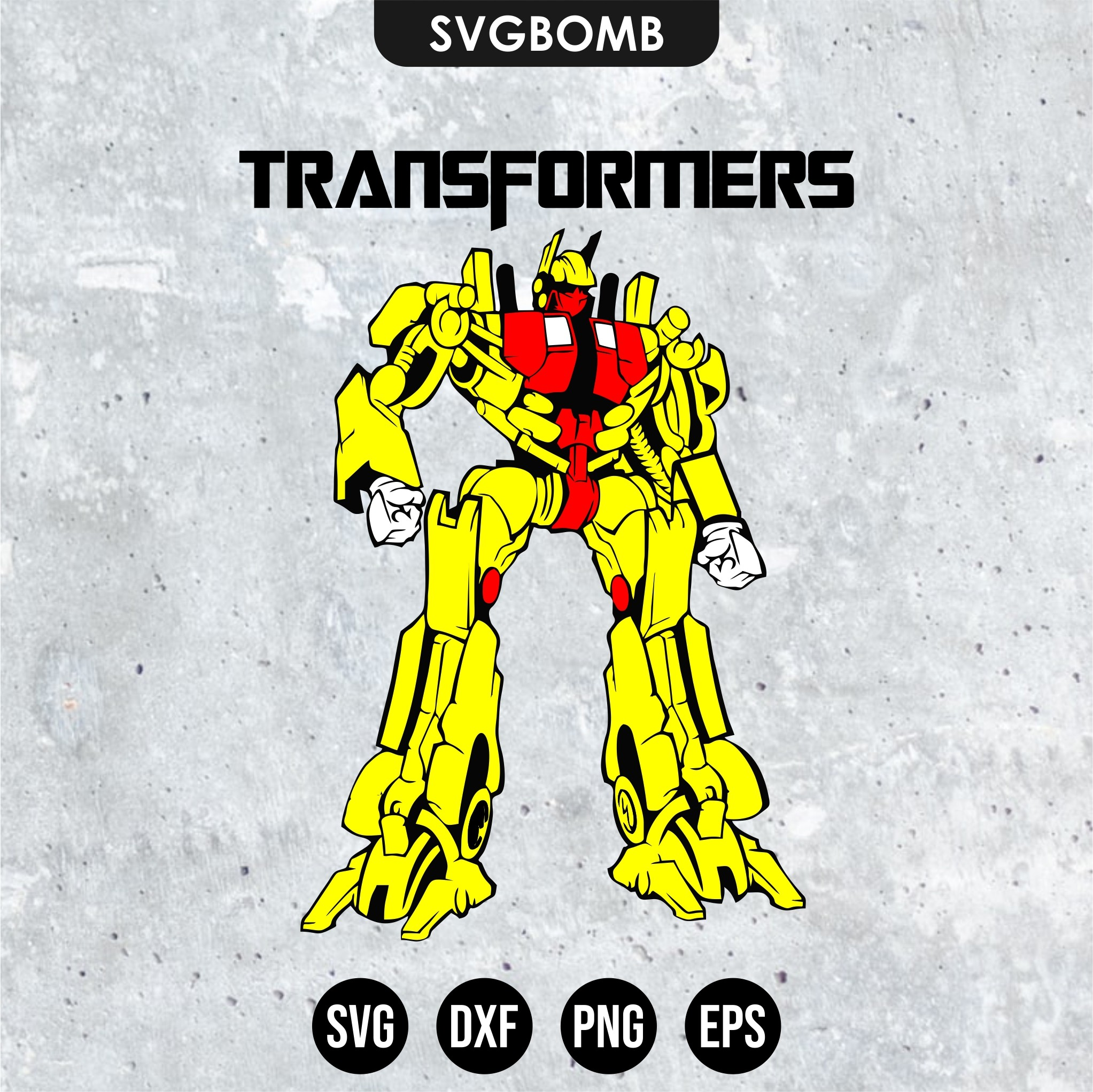 robot transformers svg cut file