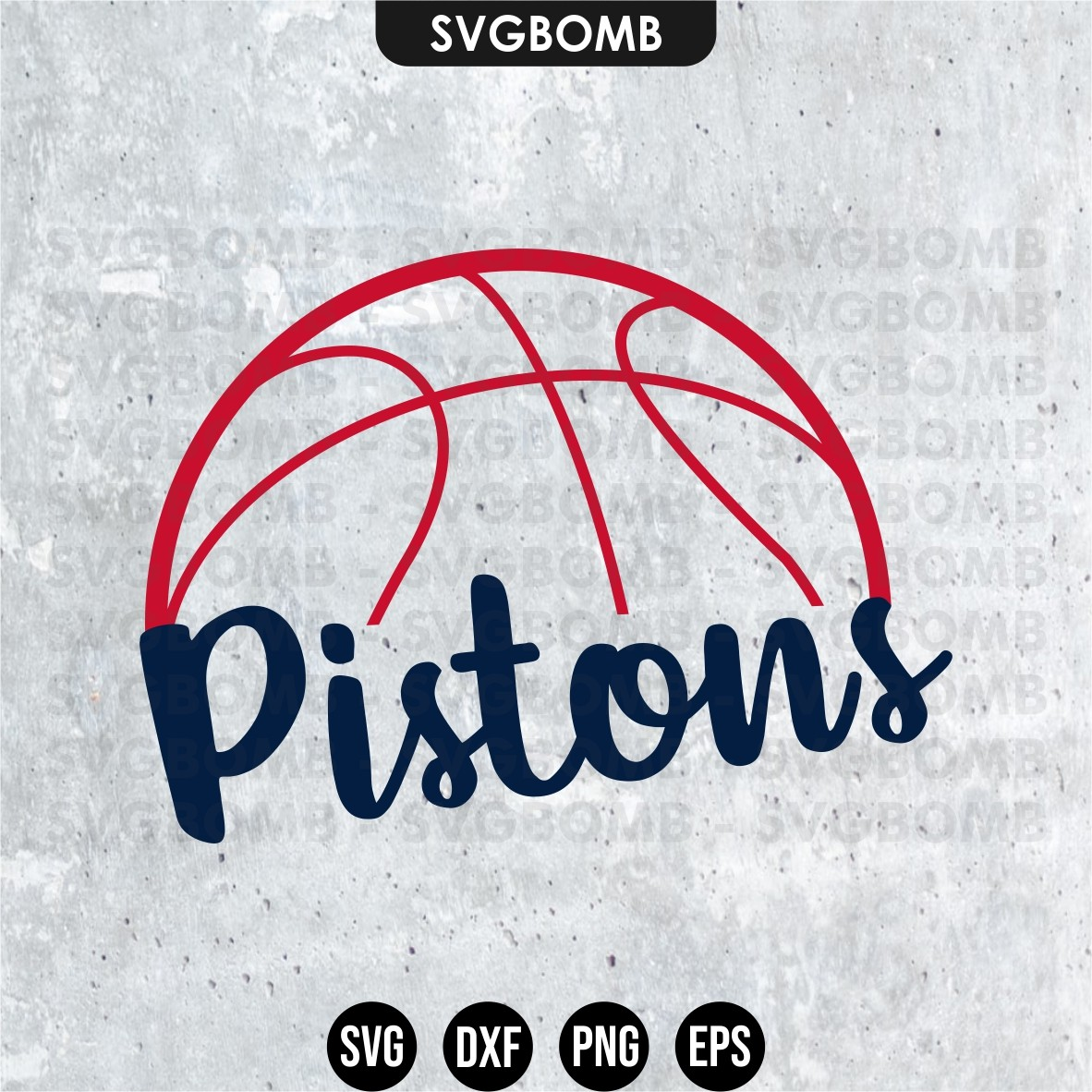 detroit piston cut files svg
