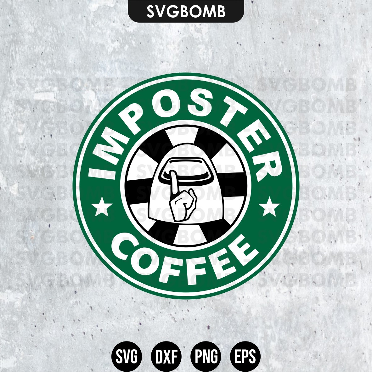 imposter coffee among us svg
