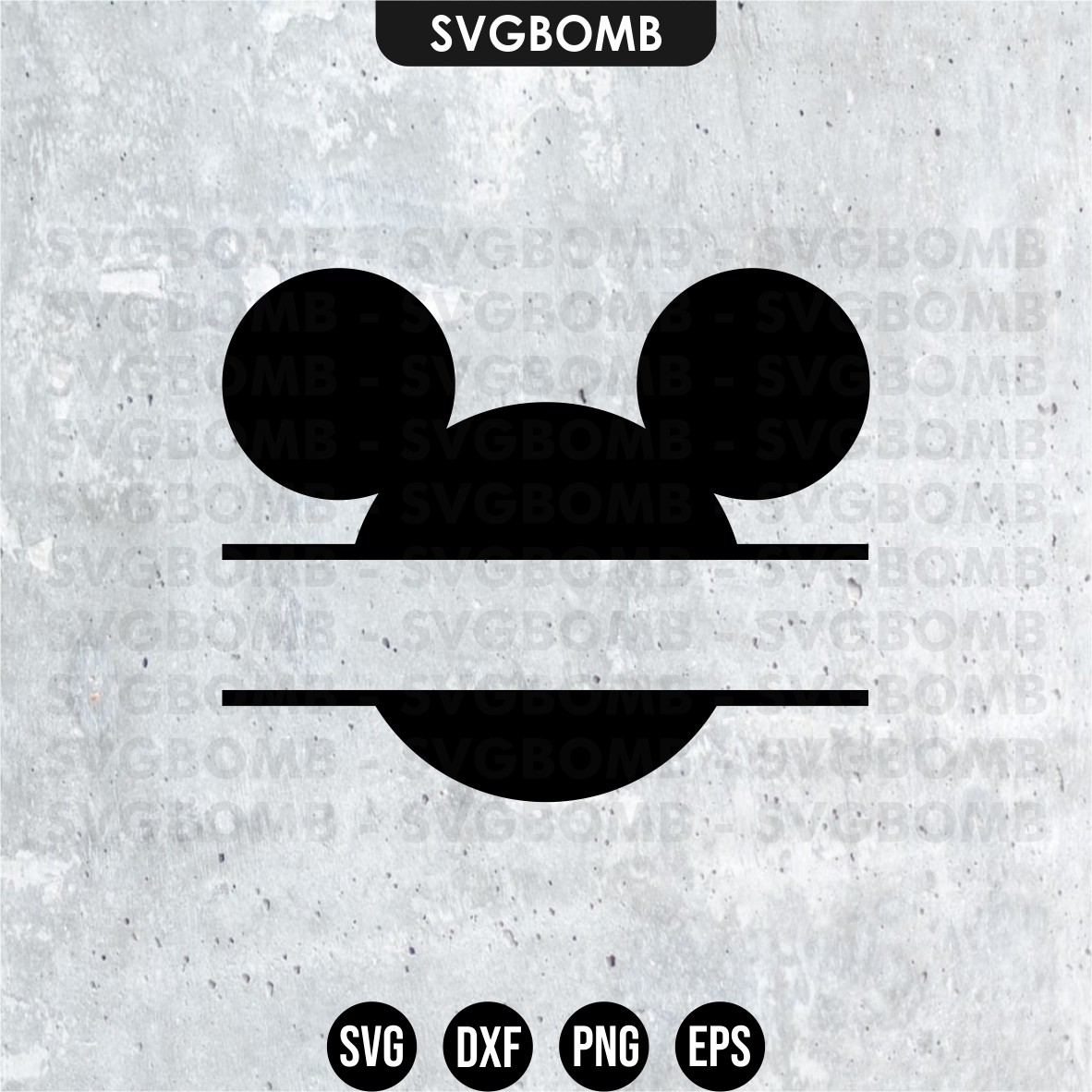 Mickey Mouse Monogram