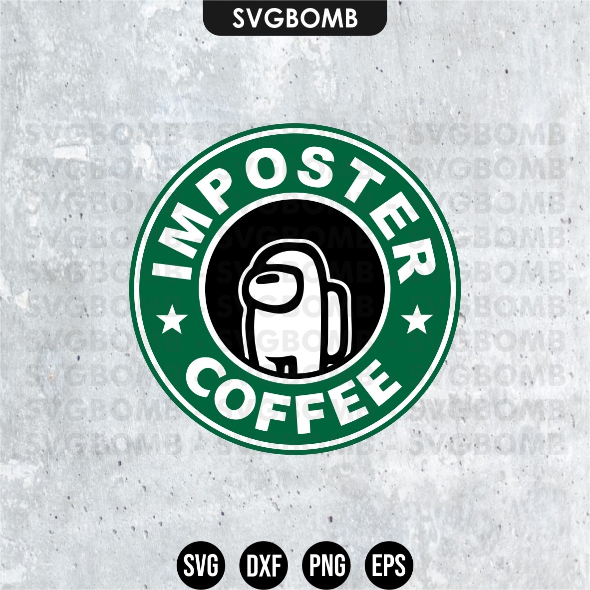among us starbucks imposter coffee svg